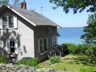ocean front cabin maine